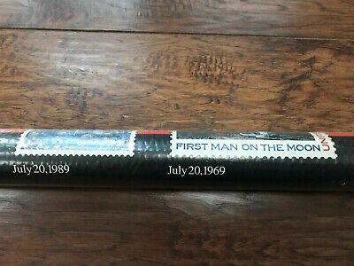 First Man On Moon Landing In 1969 Commemorative Poster Dated 1989 USPS Nasa