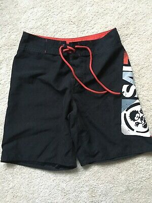 Kids Saltrock Board Shorts, Age 9-10yrs, Black/red/white, Great Condition