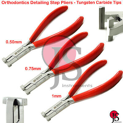 Orthodontic Detailing Rectangular Archwire Bending Pliers Step Making In/Out TC