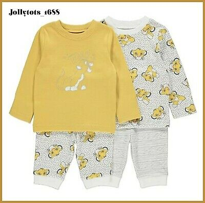 Disney Baby Boys Lion King Pyjama Set 2 Pack Simba PJ's BNWT 9 to 36 Months