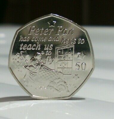 2019 Wendy And Nana Uncirculated 50p coin, from the Peter Pan Collection IOM.