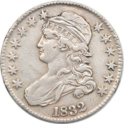1832 Small Letters Capped Bust Half Dollar, XF Cleaned, 50c C00048782