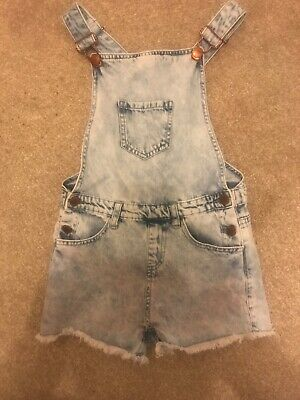 Girls Blue Denim Dungarees Shorts Age 9-10 From Denim & Co