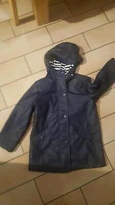 Girls Blue Raincoat, Tesco F&F, age 6/7..lovely smart coat..perfect for school