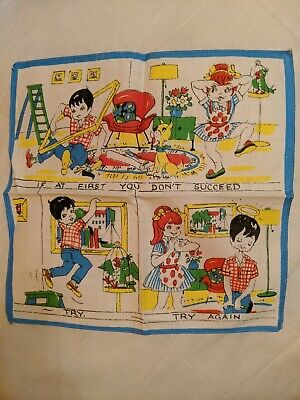 vintage childrens hankerchiefs x 4 , immaculate condition. See my other listings