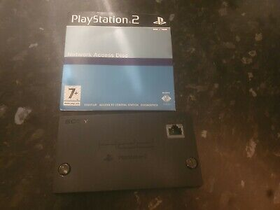 Official Sony Playstation 2 Network Adaptor HDD Ps2 and disc