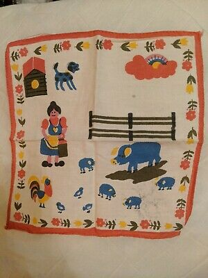 vintage children's handkerchiefs x 4 beautiful condition, see my other listings