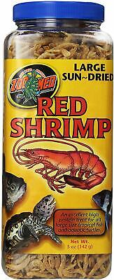 (6 Pack) Zoo Med Large Sun-Dried Red Shrimp | Tropical Fish Aquatic Turtles 5 oz