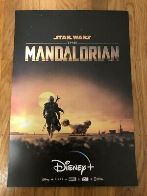 NEW: The Mandalorian Star Wars Collector Original Promo Poster from Disney+ Rare
