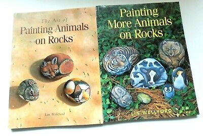 Painting Animals on Rocks Set of 2 Books by Lin Wellford