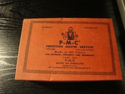 P-M-C Perfection Master Tailor's Crayons  No. 3050 WHITE VINTAGE USA
