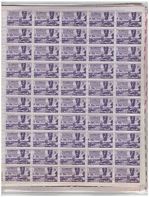 Us $33.50 Face Mint/Nh Postage Lot Of Mostly 3¢ Complete Sheets - All Different