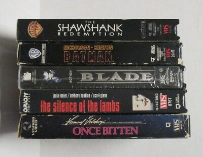 5 VHS Videos - Lot of 5 - Used - Read Description - #3 Listing - Crate #1