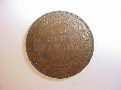 1912 One Large Cent Canadian ~ George V Penny ~ Nice Coin