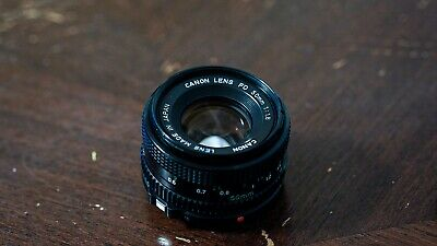 Canon FD 50mm f/1.8 Lens Aperture stucked