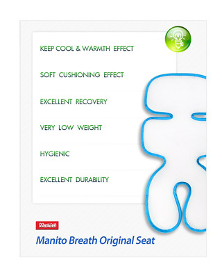 Manito Breath Original 3D Mesh Seat Pad/Cushion/Liner for Stroller and Car Seat,