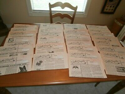 "SCOTTISH TERRIER-SCOTTIE DOG 26 issues ""SCOTTIE SAMPLER"" NEWSLETTER +GREAT SCOTS"
