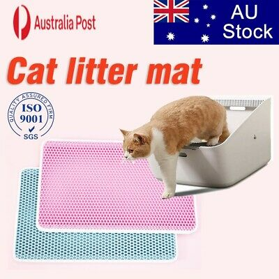 Waterproof Double-Layer Cat Litter Mat Trapper Foldable Pad Pet Rug Home 55×75CM