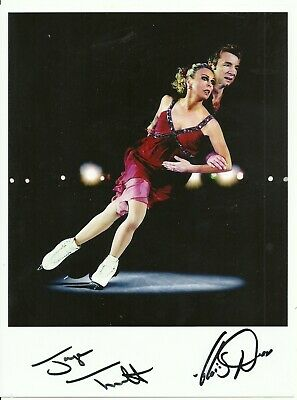 Jayne Torvill & Christopher Dean - Ice Skating - Signed 7 x 5 Print/Photograph