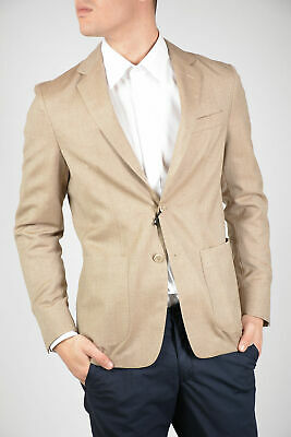 CORNELIANI men Suit Jackets Beige Single Breasted Unlined Blazer Sz 52 ITA ID...