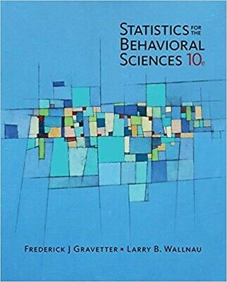 Statistics for The Behavioral Sciences - 10th Edition