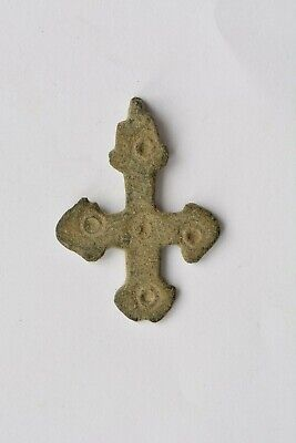 Early Byzantine bronze cross evil eyes 5th century AD