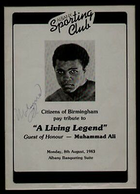 MUHAMMAD ALI rare early 1983 signed program in display. UACCRD retirement SALE