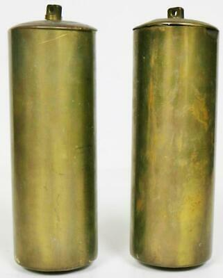 Pair Antique 18thC Brass London Longcase Grandfather Clock Weights 14lb & 14lb