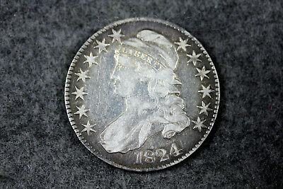 Estate  Find 1824  Capped Bust Half Dollar  #D21753