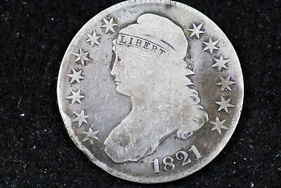 Estate  Find 1821  Capped Bust Half Dollar  #D16474