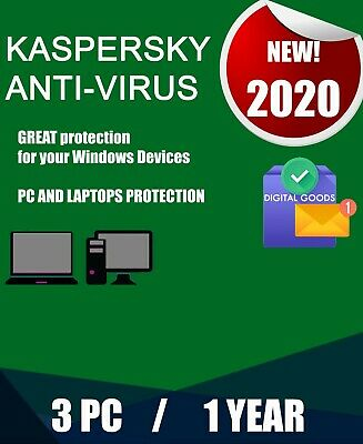 Region CD Americas Kaspersky Internet Security 2019-1 PC 1-Year