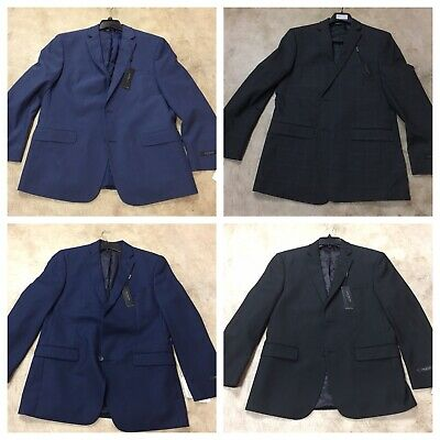 mens andrew Marc New York stretch suit jackets coats 12-18