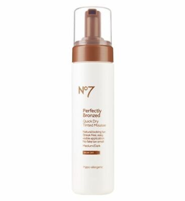 No7 Perfectly Bronzed Quick Dry Tinted Mousse Medium To Dark 200ml New Authentic