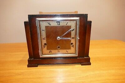 Art Deco mantle clock case / hands with quartz movement - See Details