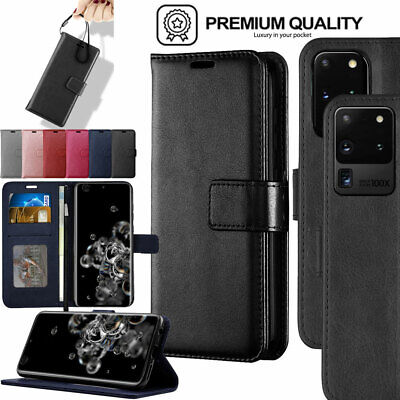 for Samsung S20, S20 Plus, S20 Ultra 5G Premium Flip Leather Wallet Stand Case