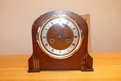 Vintage English made Art Deco mantle clock in full working order - See Details