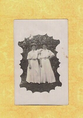 NY Utica area 1908 RPPC real photo postcard TWO LADIES to Granville NY Roberts