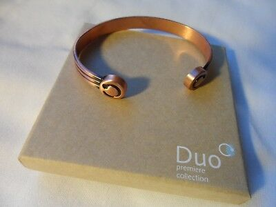 Bioflow Duo copper finish magnetic wrist bangle