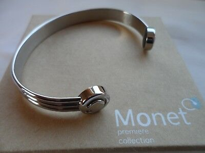 Bioflow Monet polished stainless steel finish magnetic wrist bangle