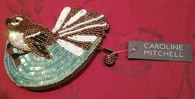 Caroline Mitchell Beaded Bird Themed Change Purse NWT