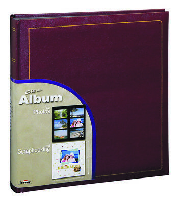 """Large Deluxe Photoboard Photo Album 100 Pages Holds 500 6""""x4"""" Photos Or 100 A4"""