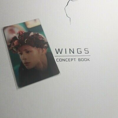 BTS Bangtan Boys The Wings Concept Book Jin Lenticular Photo card Kpop Rare