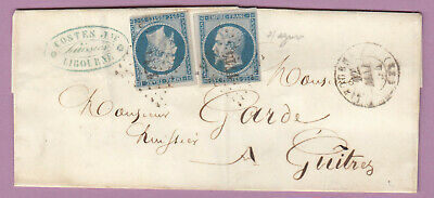 N°15 X2 Pc 1714 Libourne Gironde Guitres Lettre Cover