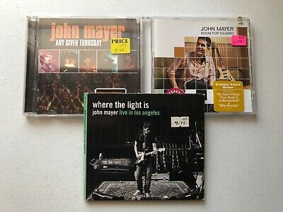 John Mayer Cd Lot Of 3! Room For Squares,Any Given Thursday,Live Los Angeles!