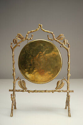 Ornate Antique Victorian Brass Dinner Gong  by Townshend & Co.