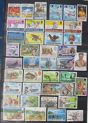 129-20  40 Used Solomon Islands Stamps