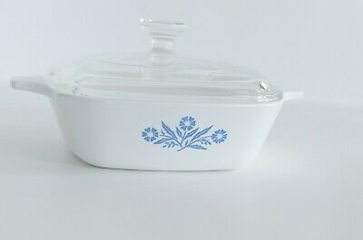 CUTE Corning Ware Petite Pan P-41 Small Casserole Dish & Pyrex Glass Lid P4 - GC