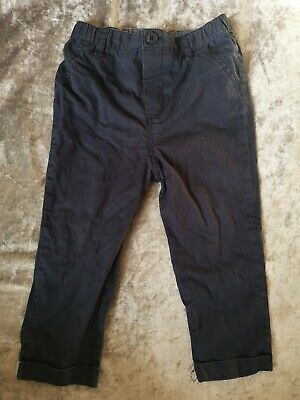 Next Baby Boys Age 12-18 Months Lightweight Chinos Pants Trousers Navy