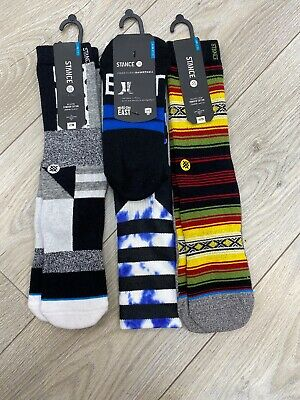 STANCE MEN'S ATHLETIC SOCKS SIZE LARGE (9-12) 3 Pairs Of Socks 4 The Price Of 1