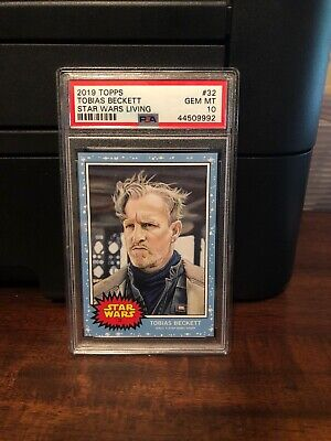 2019 Topps Star Wars Living Set Tobias Beckett #32 PSA 10 Gem Mint